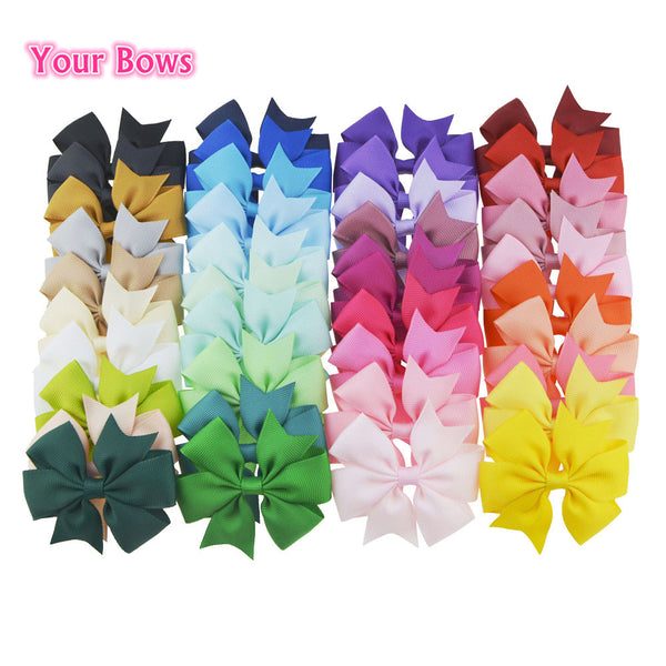 "Girls 3"" Ribbon Hair Bows (40pcs)"