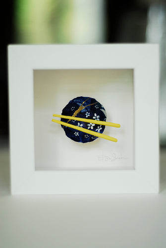 Kintsugi Eggshells Bowl and Chopsticks- 3