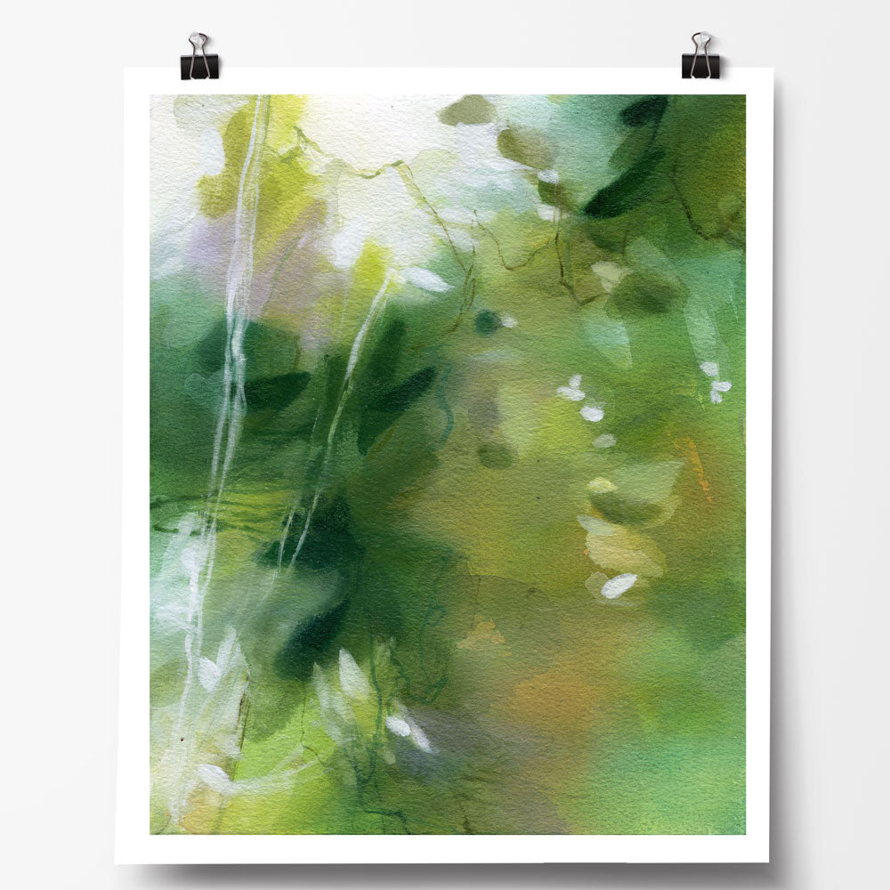 Verdant Shallows I fine art print