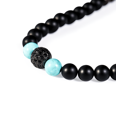 SUKHAVATI - Black CZ Ball - Buddhani Fashion jewelry for men