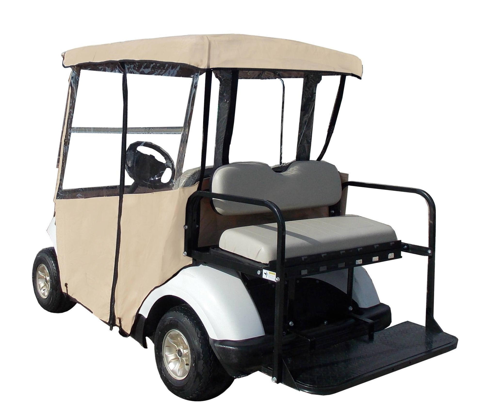 3 Sided Fitted Over The Top Golf Cart Cover