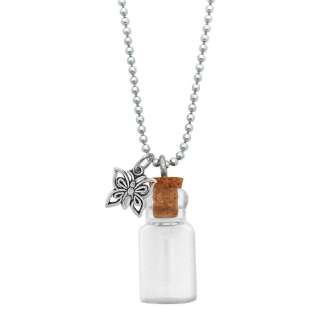 Necklace Memorial Ashes Urn Necklace Bubble Bottle Inside;  Necklace Gift for Her in Cremation Necklace Ashes Bottle