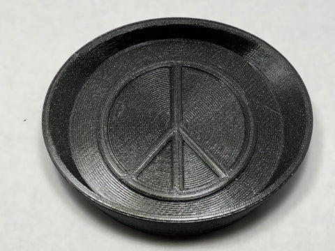 "Soap Dish- 3"" Peace Sign"