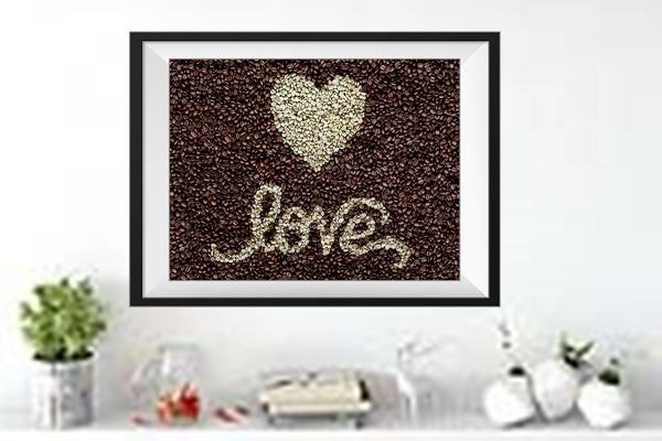 LOVE Coffee Bean Art Print