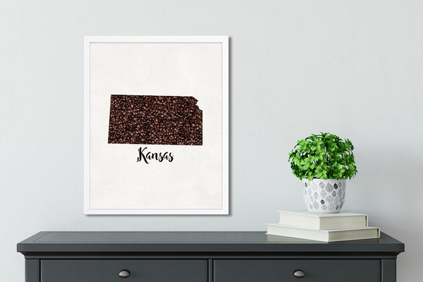 KANSAS State Map Art
