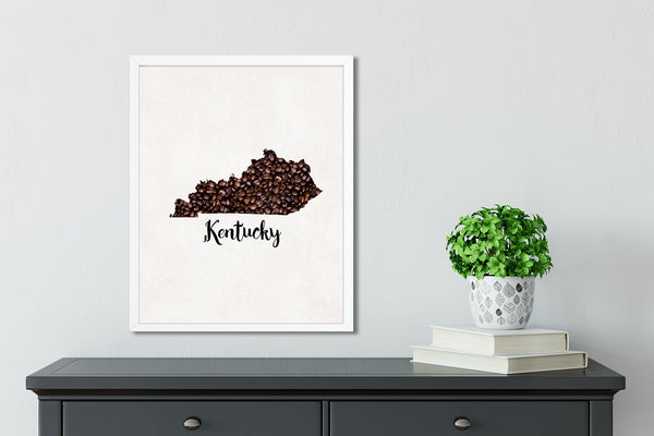 KENTUCKY State Map Art