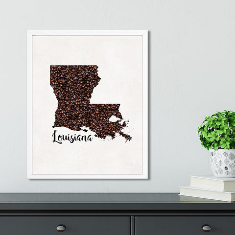 LOUISIANA State Map Art