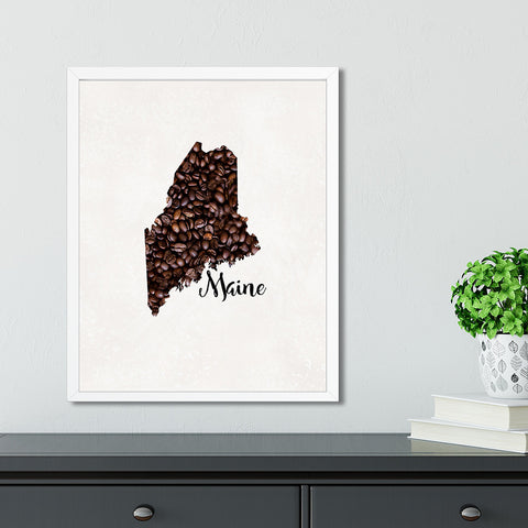 MAINE State Map Art