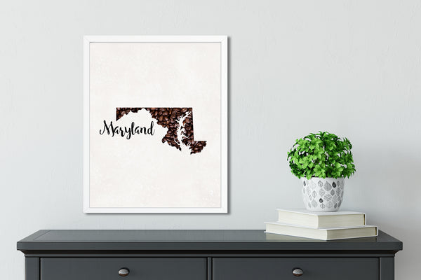 MARYLAND State Map Art