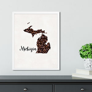 MICHIGAN State Map Art