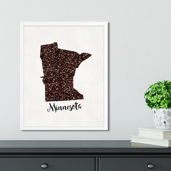 MINNESOTA State Map Art