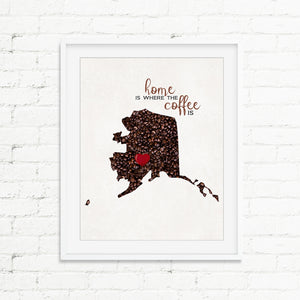 ALASKA Custom Map Art Print