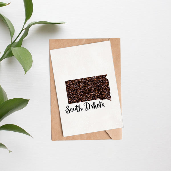 State Map Coffee Bean Greeting Cards - SETS