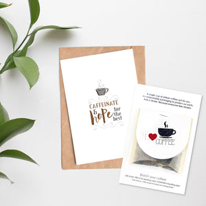 Card + Coffee - Caffeinate & Hope