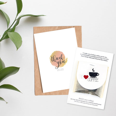 Card + Coffee - Thank You For Your Business