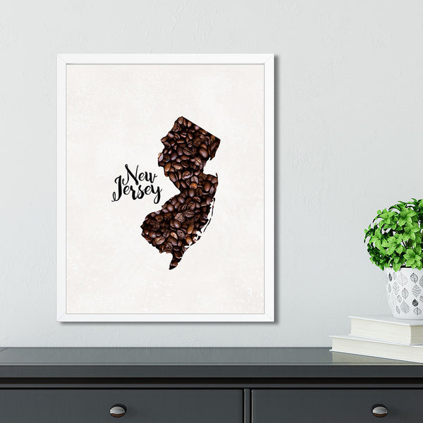 NEW JERSEY State Map Art
