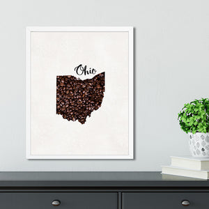 OHIO State Map Art