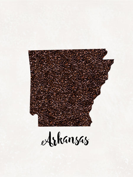 ARKANSAS State Map Art