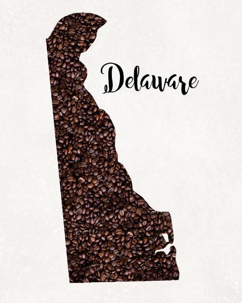 DELAWARE State Map Art
