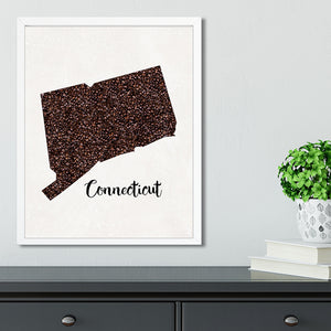 CONNECTICUT State Map Art