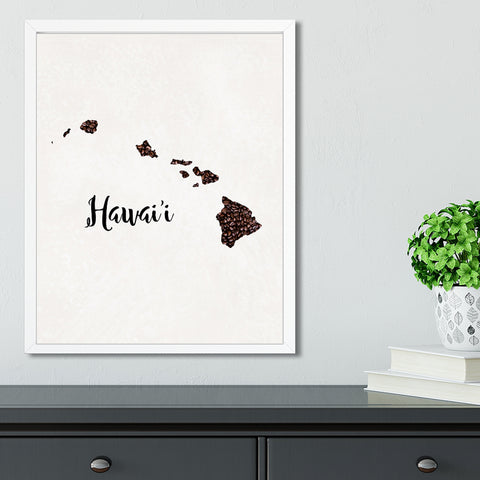HAWAII State Map Art