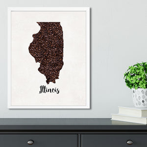 ILLINOIS State Map Art
