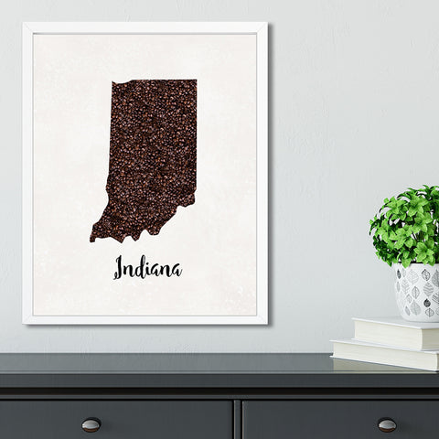 INDIANA State Map Art