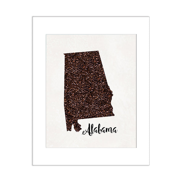 ALABAMA State Map Art