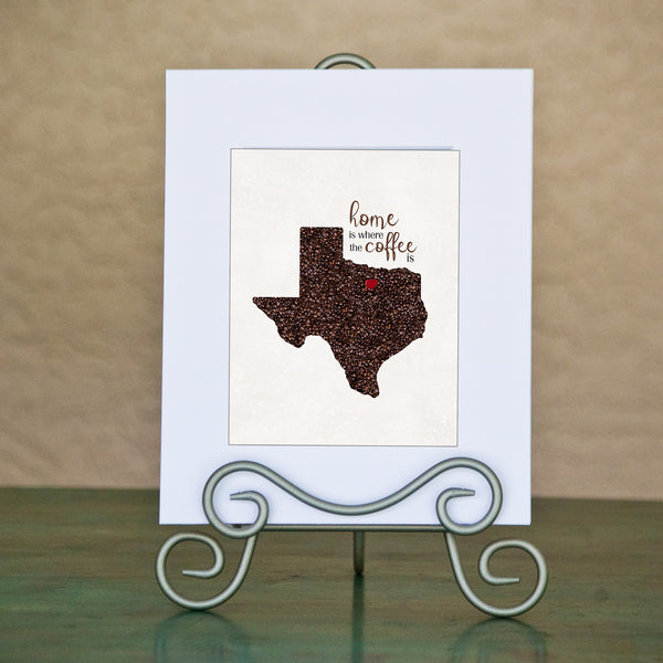 TEXAS Custom Map Art Print