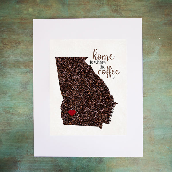 GEORGIA Custom Map Art Print