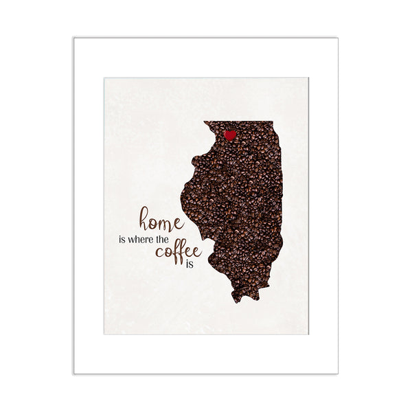 ILLINOIS Custom Map Art Print