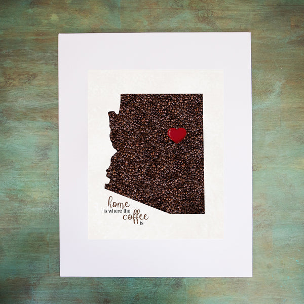 ARIZONA Custom Map Art Print