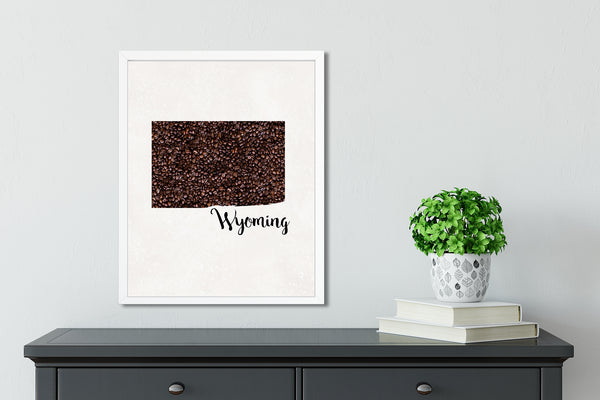 WYOMING State Map Art