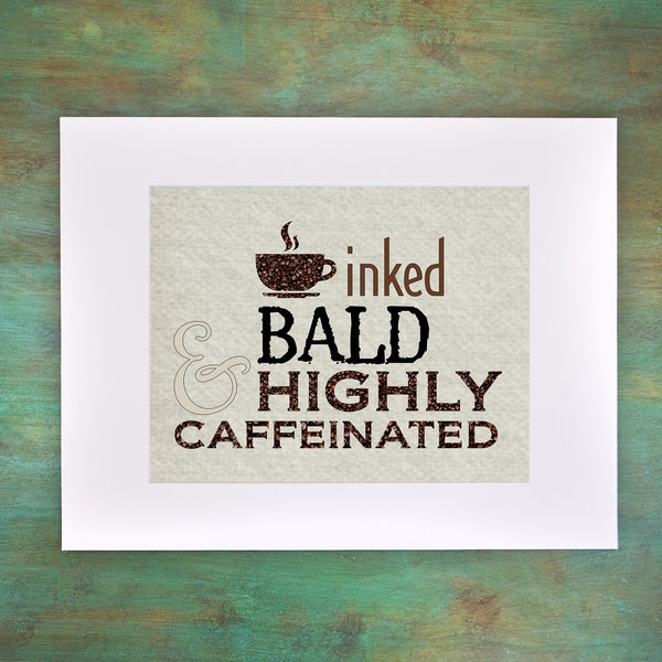 INKED BALD Custom Art Print