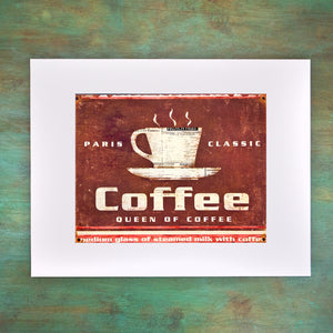 PARIS COFFEE Matted Art Print