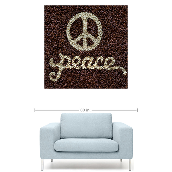 PEACE Coffee Bean Art Print
