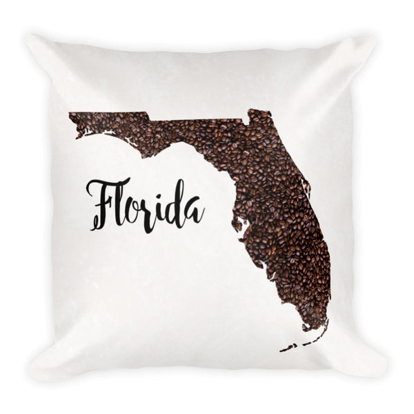 STATE MAP Throw Pillow