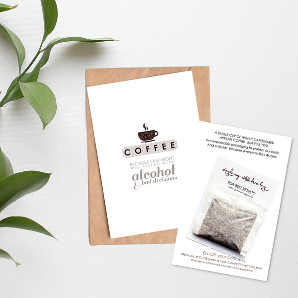 Mix & Match Set of 5 - Card + Coffee