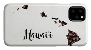 Hawaii Coffee Bean Map Art - Phone Case