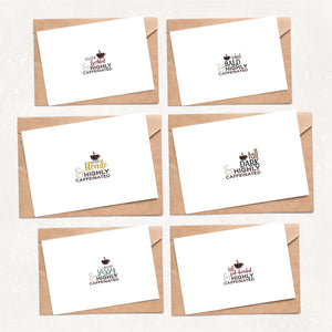 Highly Caffeinated Greeting Card Set