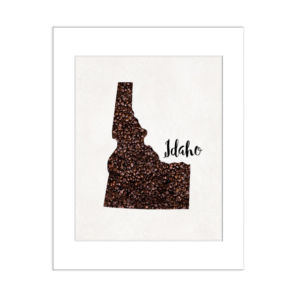 IDAHO State Map Art