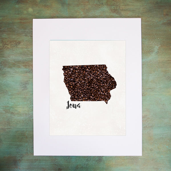 IOWA State Map Art