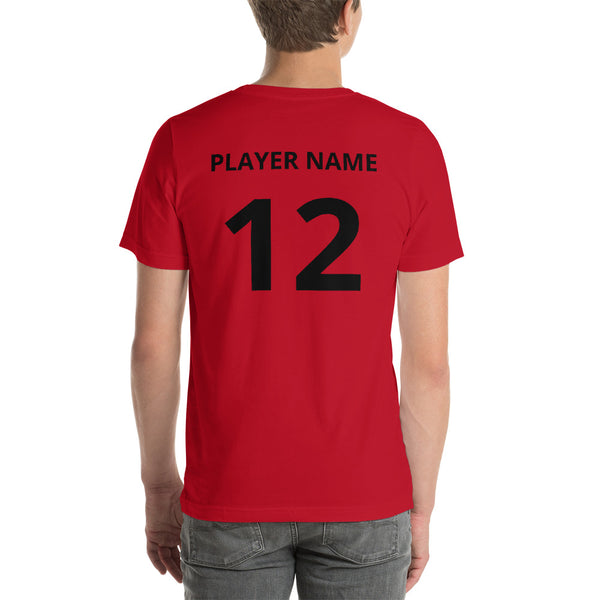 CUSTOM Short-Sleeve Unisex T-Shirt  -  RED LOGO
