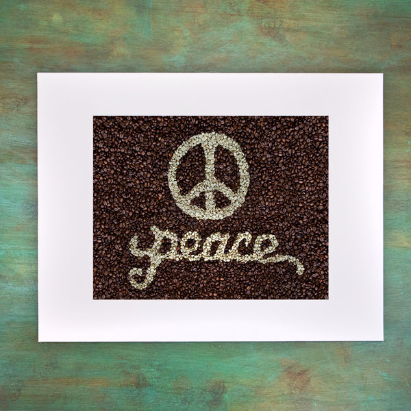 PEACE Matted Art Print