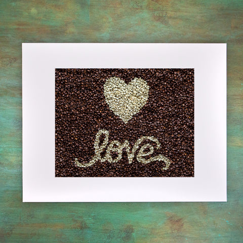 LOVE Matted Art Print