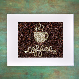 COFFEE Matted Art Print