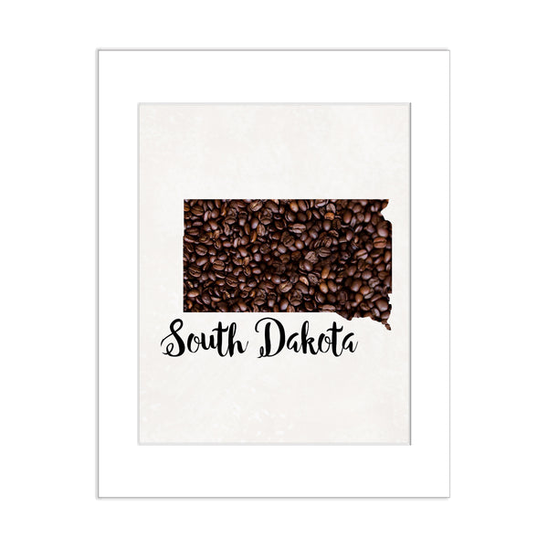 SOUTH DAKOTA State Map Art