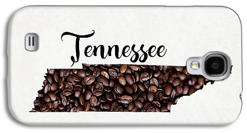 Tennessee Coffee Bean Map Art - Phone Case
