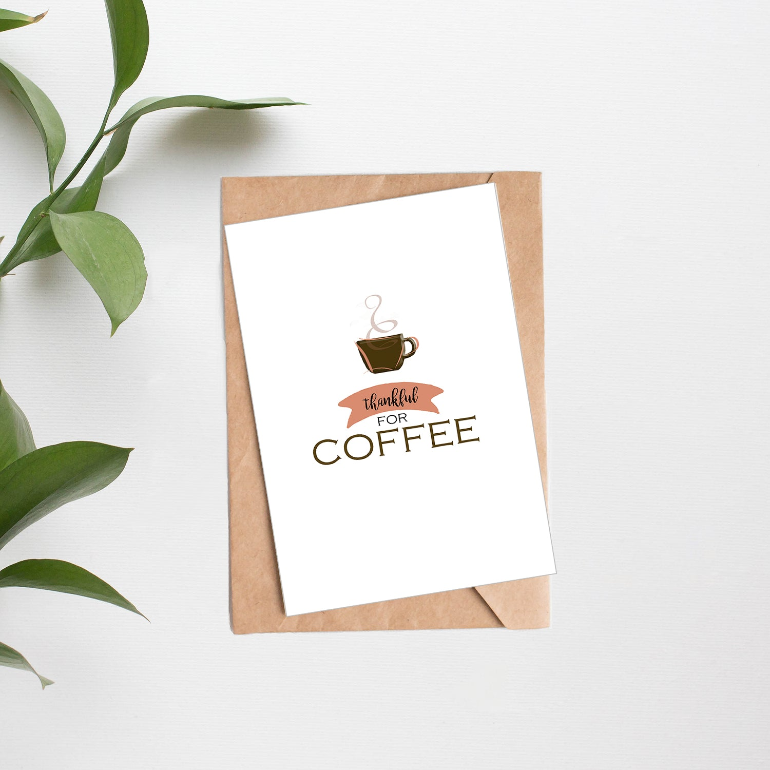 Card + Coffee - Thankful For Coffee #2