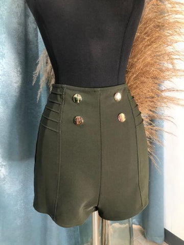 Golden Buttons Olive Short